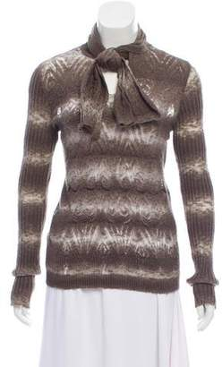Jean Paul Gaultier Patterned Turtleneck Sweater