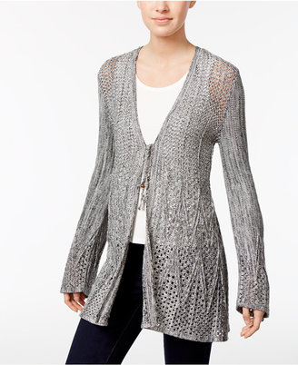 Style & Co Open-Knit Tie-Front Cardigan, Only at Macy's $69.50 thestylecure.com