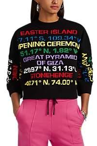 Opening Ceremony Women's Destination-Intarsia Cotton-Blend Sweater - Black