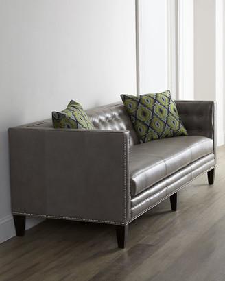 Massoud Dove Leather Sofa