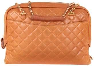 Chanel Vintage Camera Camel Leather Handbag