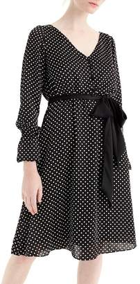 J.Crew J. Crew Long Sleeve Polka Dot Dress