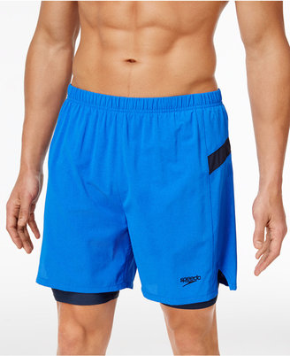 Speedo Men's Compression Jammer Swim Trunks $64 thestylecure.com