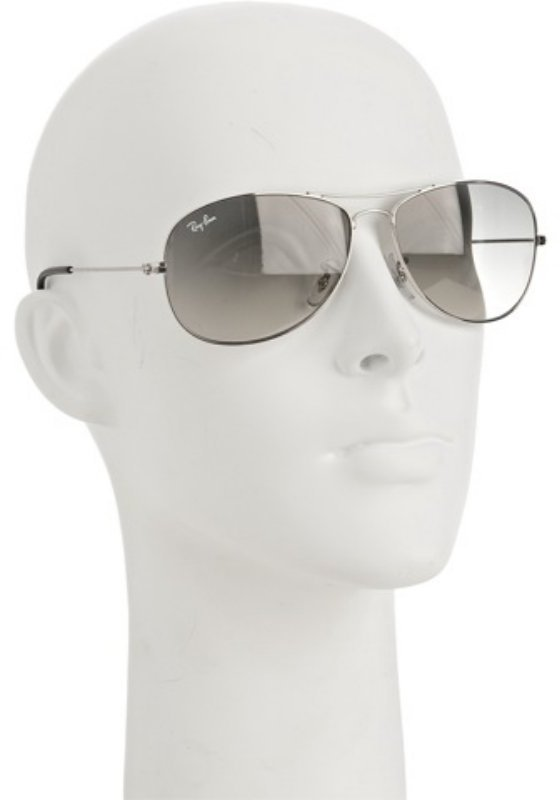 Ray-Ban silver metal 'Cockpit' aviator sunglasses