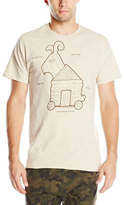 Liquid Blue Men's Monty Python-Trojan Rabbit T-Shirt