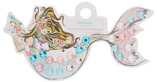 Monsoon Pearl Mermaid Stick On Earrings