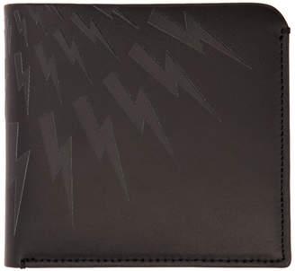 Neil Barrett Black Lightning Bolt Wallet