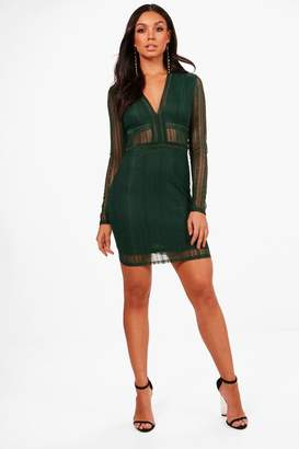 boohoo Lace Bodycon Mini Dress