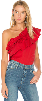 SALONI Esme-C Top in Red $297 thestylecure.com