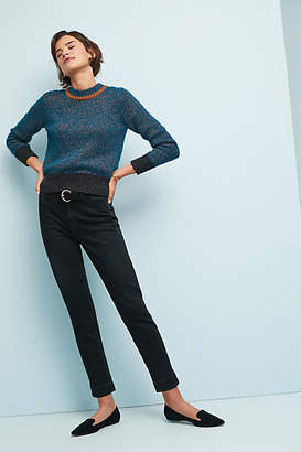 Amo Audrey Ultra High-Rise Straight Cropped Jeans