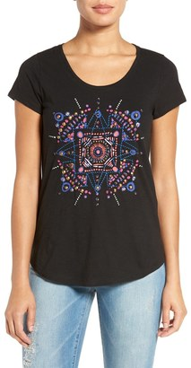 Lucky Brand 'Mandala Dots' Embellished Tee $49.50 thestylecure.com