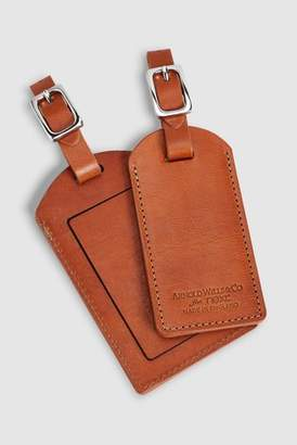 Next Mens Tan Made In England Set Of 2 Leather Luggage Tags