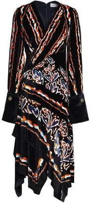 Peter Pilotto Wrap-Effect Printed Velvet Dress