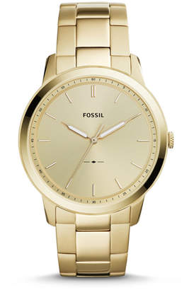 Fossil The Minimalist Three-Hand Gold-Tone Stainless Steel Watch