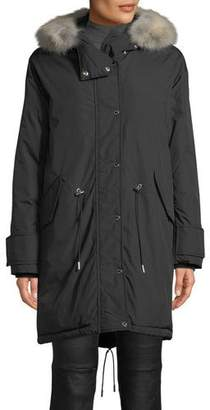 Belstaff Chantrey Down Parka Jacket w/ Detachable Fur
