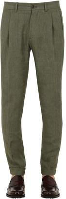 Etro Slim Fit Linen Trousers