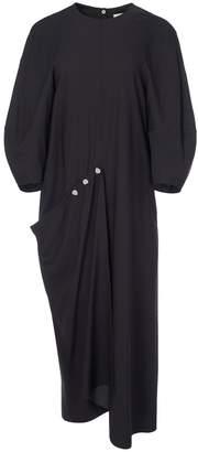 Tibi Asymmetrical Flap Front Dress