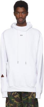 Off-White Off White White Logo Tape Hoodie