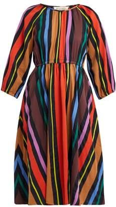 Ace&Jig Jane Striped Cotton Midi Dress - Womens - Black Multi