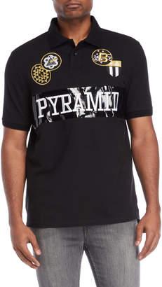 Black Pyramid Black Gold Patch Polo