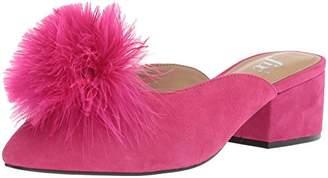 The Fix Women's Roxana Block Heel Mule with Feather Pom