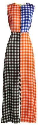 Diane von Furstenberg Contrasting Cossier Print Stretch Silk Dress - Womens - Orange Multi