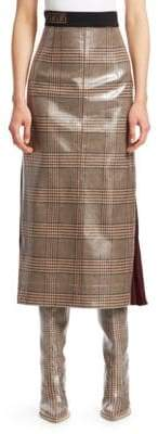 Fendi Glazed Check Midi Skirt