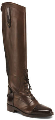 Made In Italy Leather High Shaft Boots