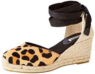 Dune Women's Kasey Platform Sandals, Multicolour Leopard-Print_Leather, 4 (37 EU)