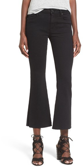 Women's Hudson Jeans 'Mia' Raw Hem Crop Flare Jeans