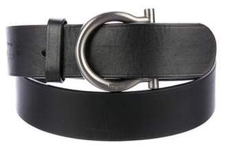 Salvatore Ferragamo Leather Gancino Belt