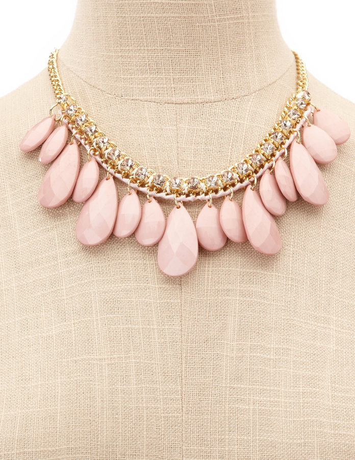 Charlotte Russe Pastel Teardrop Collar Necklace