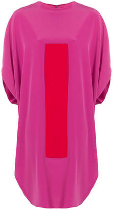 Gianluca Capannolo color-blocked shift dress with short doleman sleeves