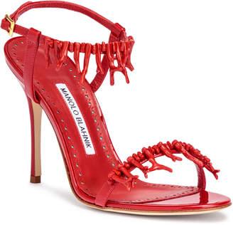 Manolo Blahnik Cienzona 105 red patent sandals