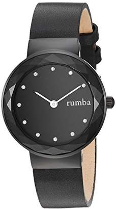 RumbaTime Women's 'Santa Monica' Quartz Stainless Steel and Leather Casual Watch