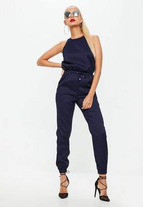 Missguided Navy Sleeveless Elasticated Casual Romper