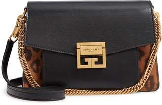 Givenchy Small GV3 Leopard Print Leather Crossbody Bag