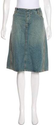 DKNY Knee-Length Denim Skirt w/ Tags