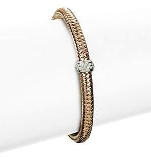 Roberto Coin Women's Primavera Diamond & 18K Rose Gold Woven Bracelet