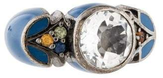 MCL by Matthew Campbell Laurenza Quartz, Sapphire, & Enamel Ring