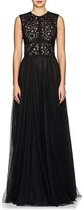 Sophia Kah Women's Floral Lace & Mesh Gown - Black