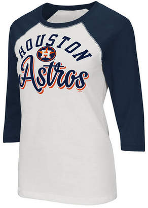 Tailgate G-iii Sports Women's Houston Astros Foil Raglan T-Shirt