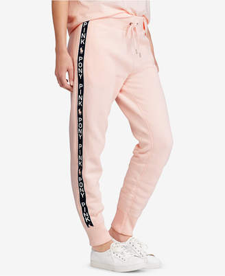 Polo Ralph Lauren Pink Pony Fleece Jogger Pants