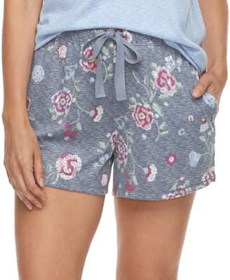 Croft & Barrow Women's Printed Pajama Shorts
