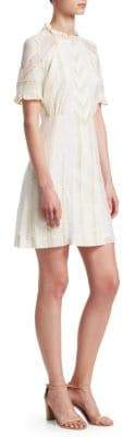 Sandro Cuba To Paris Mary High-Neck Shift Dress