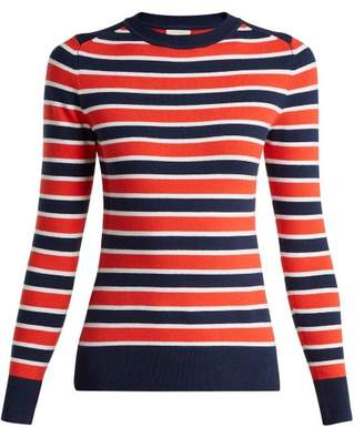 Joostricot - Peachskin Striped Sweater - Womens - Navy Multi
