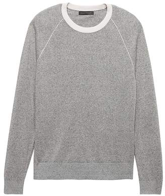 Banana Republic Silk-Linen Contrast Collar Sweater