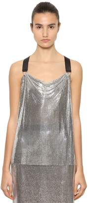 Paco Rabanne Draped Sleeveless Metal Mesh Top