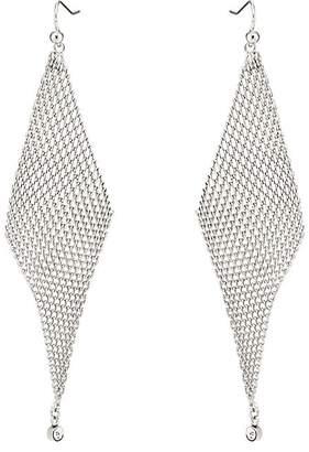 Jules Smith Designs WOMEN'S CRYSTAL-EMBELLISHED MESH WAVE EARRINGS