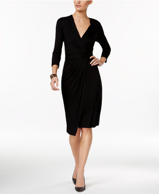 ECI Faux-Wrap Dress $70 thestylecure.com
